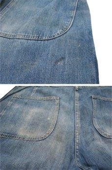 """画像8: 1940's """"US NAVY"""" Denim Deck Trousers Indigo Blue size w 32 inch (8)"""
