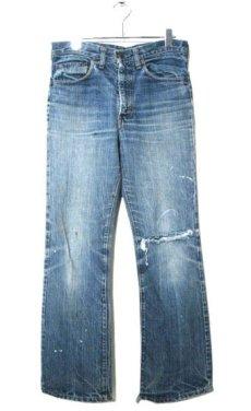 "画像1: 1970's Levi Strauss & Co. Lot 517 ""Single Stitch"" Denim Pants Indigo Denim size w 31 inch (表記 不明) (1)"