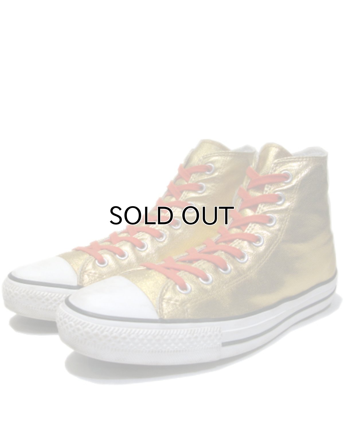 画像1: 00's Converse ALL STAR Hi-Cut Sneaker GOLD size 11 (29.5 cm) (1)