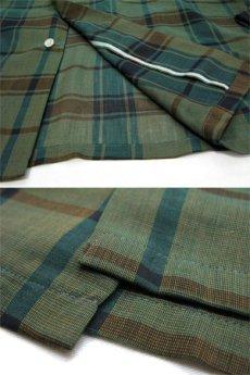 """画像6: 1960's """"The Halle Bros. Co."""" Check Pattern Box Shirts GREEN size L (表記 L 33) (6)"""