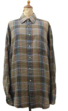 画像1: 1980's ABERCROMBIE & FITCH Check Pattern L/S Shirts BROWN サイズ L (表記 L) (1)