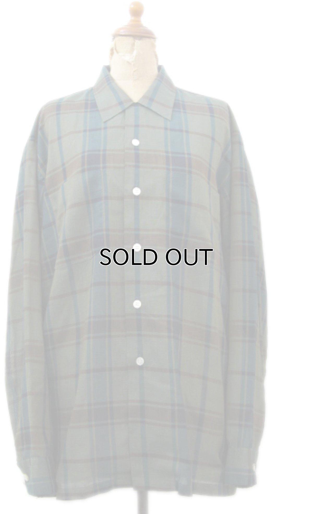 """画像1: 1960's """"The Halle Bros. Co."""" Check Pattern Box Shirts GREEN size L (表記 L 33) (1)"""