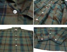 """画像5: 1960's """"The Halle Bros. Co."""" Check Pattern Box Shirts GREEN size L (表記 L 33) (5)"""