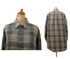 画像2: 1980's ABERCROMBIE & FITCH Check Pattern L/S Shirts BROWN サイズ L (表記 L) (2)