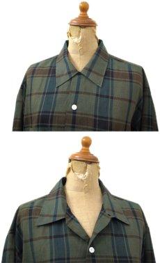 """画像3: 1960's """"The Halle Bros. Co."""" Check Pattern Box Shirts GREEN size L (表記 L 33) (3)"""