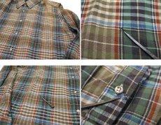 画像4: 1980's ABERCROMBIE & FITCH Check Pattern L/S Shirts BROWN サイズ L (表記 L) (4)
