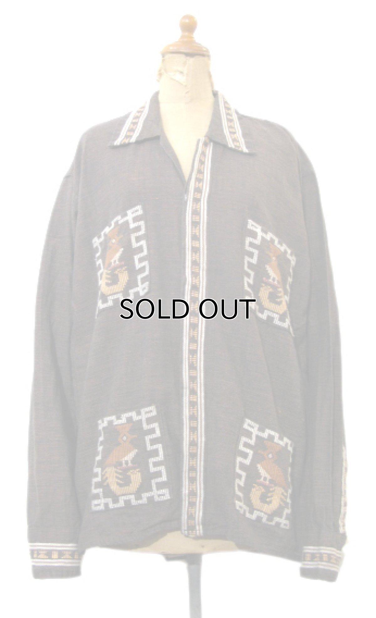 画像1: 1970's OLD Guatemara Shirts Brown系 size L (表記不明) (1)