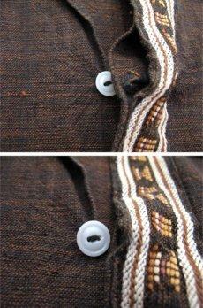 画像4: 1970's OLD Guatemara Shirts Brown系 size L (表記不明) (4)