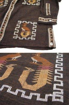 画像5: 1970's OLD Guatemara Shirts Brown系 size L (表記不明) (5)