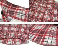 "画像4: 1970's ""Sears"" Check Pattern Flannel Shirts with Quilting Liner Red size M-L (表記  M 15-15 1/2) (4)"