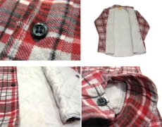 "画像5: 1970's ""Sears"" Check Pattern Flannel Shirts with Quilting Liner Red size M-L (表記  M 15-15 1/2) (5)"