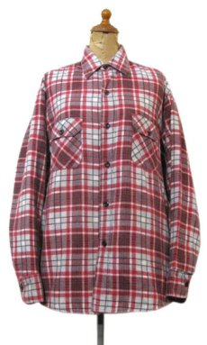 "画像1: 1970's ""Sears"" Check Pattern Flannel Shirts with Quilting Liner Red size M-L (表記  M 15-15 1/2) (1)"