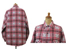 "画像2: 1970's ""Sears"" Check Pattern Flannel Shirts with Quilting Liner Red size M-L (表記  M 15-15 1/2) (2)"