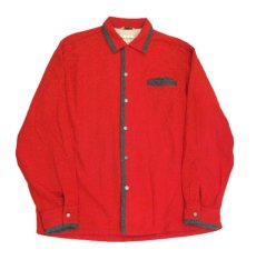 "画像4: 1950's ""Sportsman by CAL-MADE"" Two-tone Wool Shirts Red / C.Grey size L (表記 L) (4)"