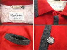 "画像5: 1950's ""Sportsman by CAL-MADE"" Two-tone Wool Shirts Red / C.Grey size L (表記 L) (5)"