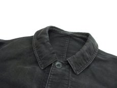 "画像6: 1950's~ French ""Dumont Durville"" Cotton Moleskin Jacket BLACK size S - M (6)"