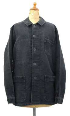 "画像1: 1950's~ French ""Dumont Durville"" Cotton Moleskin Jacket BLACK size S - M (1)"