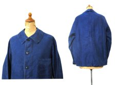 "画像2: 1950's~ French ""A St Michel"" Moleskin Jacket Faded Blue size S - M (表記 不明) (2)"