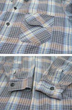 画像4: OLD French Cotton Pullover Long Shirts BLUE系 size L (4)