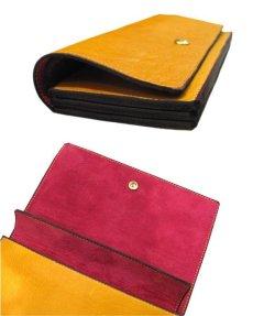 """画像5: """"JUTTA NEUMANN"""" Leather Wallet """"the Waiter's Wallet""""  color : Mustard / Magenta 長財布 (5)"""
