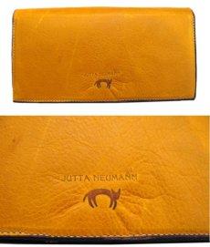 """画像2: """"JUTTA NEUMANN"""" Leather Wallet """"the Waiter's Wallet""""  color : Mustard / Magenta 長財布 (2)"""