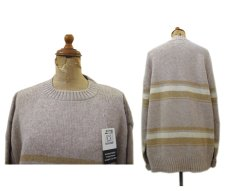 "画像2: ""TOWN & COUNTRY"" Shetland Wool Crew Neck Sweater Dead Stock BEIGE size L (表記 XL) (2)"