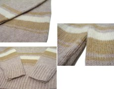 "画像4: ""TOWN & COUNTRY"" Shetland Wool Crew Neck Sweater Dead Stock BEIGE size L (表記 XL) (4)"