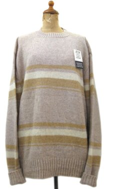 "画像1: ""TOWN & COUNTRY"" Shetland Wool Crew Neck Sweater Dead Stock BEIGE size L (表記 XL) (1)"