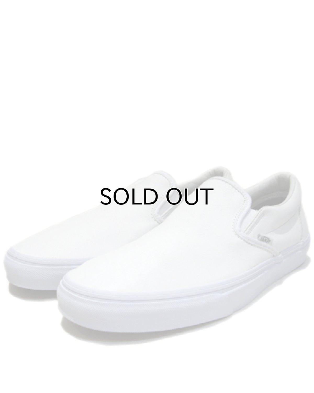 """画像1: NEW """"VANS"""" Leather Slip-On WHITE size 10 1/2 (1)"""