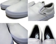 """画像4: NEW """"VANS"""" Leather Slip-On WHITE size 10 1/2 (4)"""