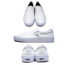 """画像2: NEW """"VANS"""" Leather Slip-On WHITE size 10 1/2 (2)"""