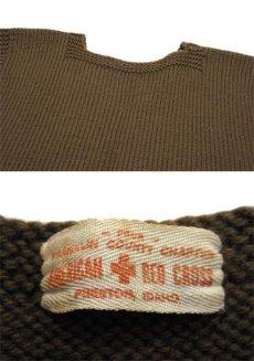 """画像2: 1940's~ """"AMERICAN RED CROSS"""" Knit Vest OLIVE size S (2)"""