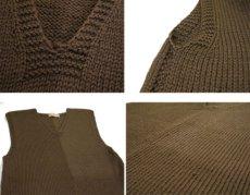 """画像4: 1940's~ """"AMERICAN RED CROSS"""" Knit Vest OLIVE size S (4)"""