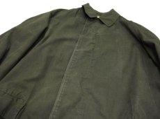 """画像6: 1960-70's """"Rainfair"""" Cotton Poplin Soutien Collar Coat OLIVE size M - L (表記 不明) (6)"""