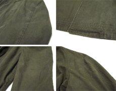 """画像7: 1960-70's """"Rainfair"""" Cotton Poplin Soutien Collar Coat OLIVE size M - L (表記 不明) (7)"""