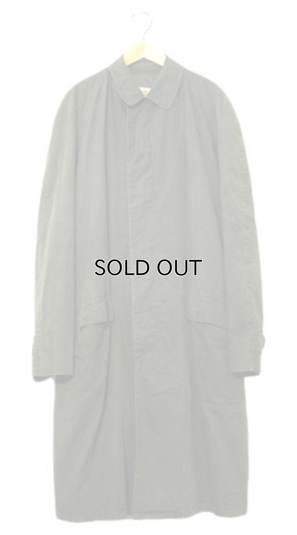 """画像1: 1960-70's """"Rainfair"""" Cotton Poplin Soutien Collar Coat OLIVE size M - L (表記 不明) (1)"""