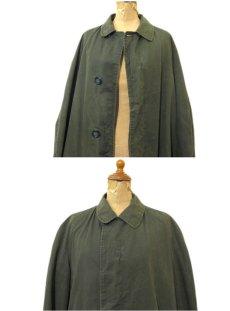 """画像3: 1960-70's """"Rainfair"""" Cotton Poplin Soutien Collar Coat OLIVE size M - L (表記 不明) (3)"""