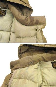 """画像8: 1980's """"EDDIE BAUER"""" Square Quilt Hooded Down Jacket BEIGE size M - L (表記 不明) (8)"""