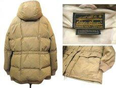 """画像2: 1980's """"EDDIE BAUER"""" Square Quilt Hooded Down Jacket BEIGE size M - L (表記 不明) (2)"""