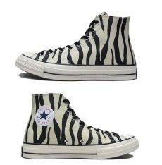 "画像2: NEW Converse ""Chuck Tailor Premium"" Hi-Cut Canvas Sneaker Zebra size 10 (28.5 cm) (2)"