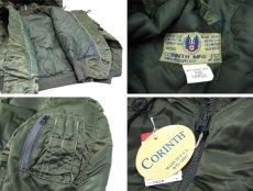"""画像5: 1990's """"CORINTH MFG CO."""" N-2B Flight Jacket Dead Stock -made in USA- OLIVE size MEDIUM (5)"""
