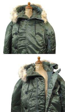 """画像3: 1990's """"CORINTH MFG CO."""" N-2B Flight Jacket Dead Stock -made in USA- OLIVE size MEDIUM (3)"""