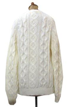 画像2: 1970's Sears Fisherman Sweater WHITE size M - L (表記 M) (2)