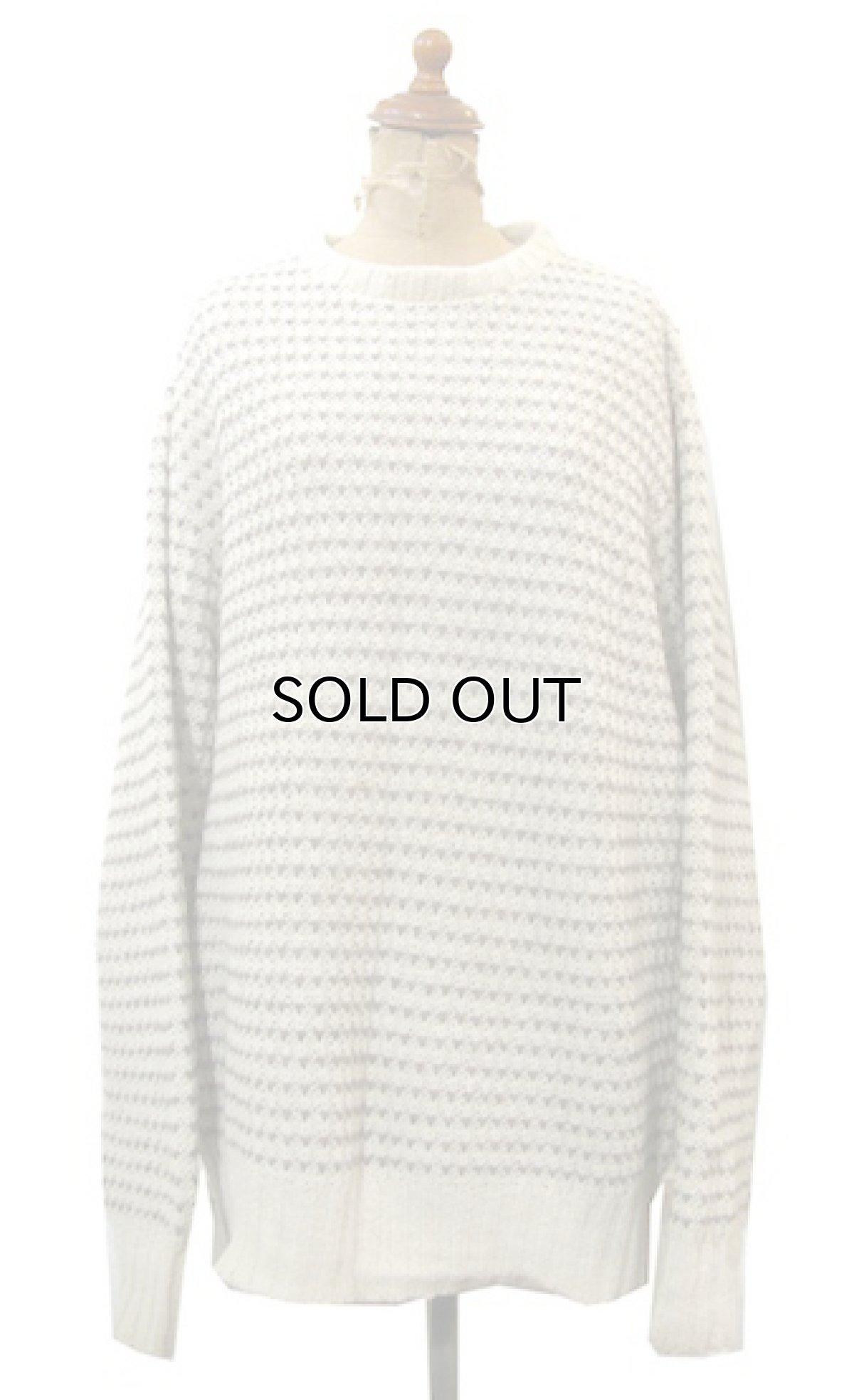"""画像1: """"LAKE HARMONY ROWING CLUB"""" Wool Sweater -made in USA- Off White / Beige size L (表記 XL) (1)"""