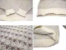 """画像4: """"LAKE HARMONY ROWING CLUB"""" Wool Sweater -made in USA- Off White / Beige size L (表記 XL) (4)"""