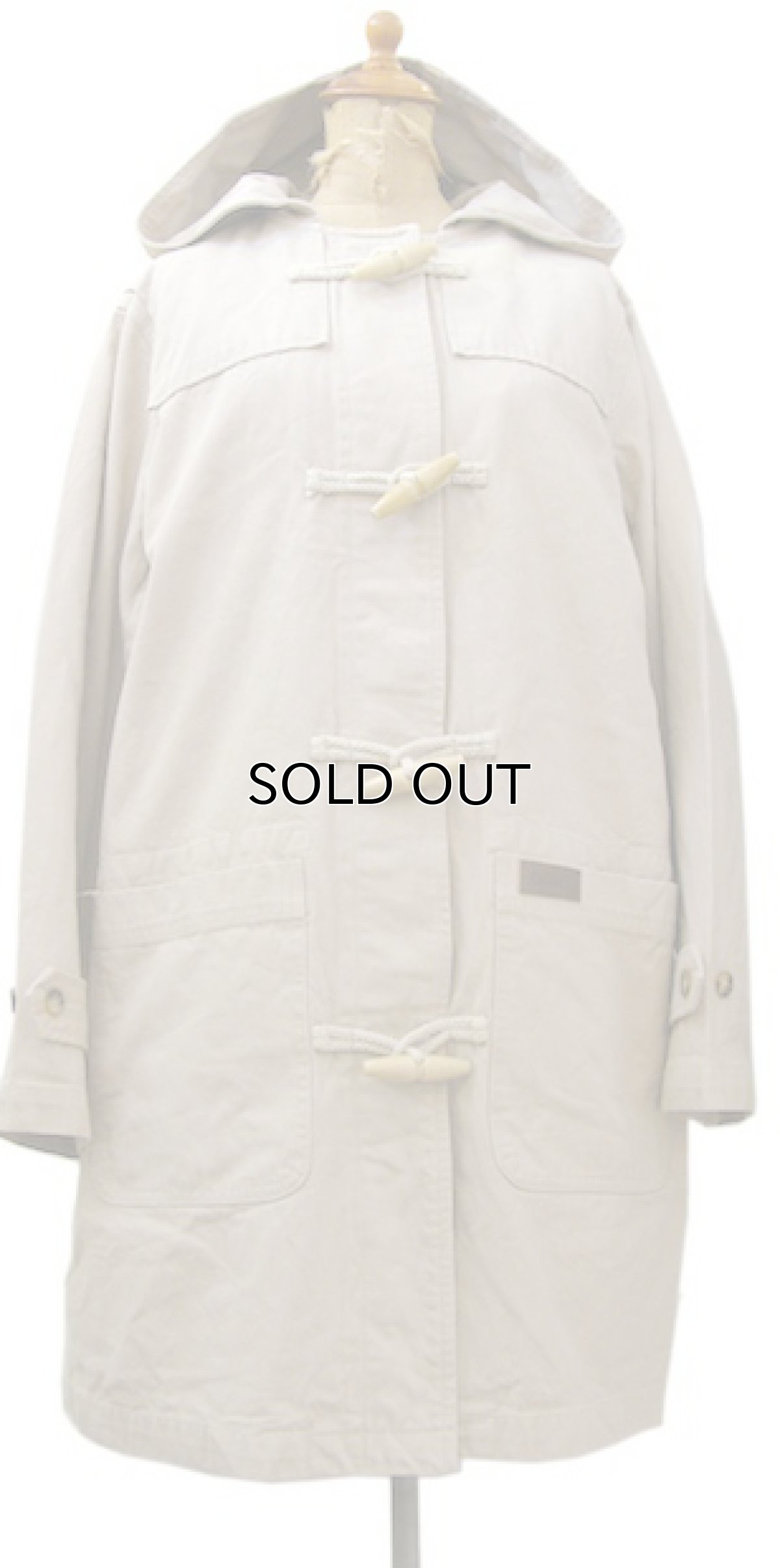 画像1: 1990's Denim & Co. Cotton Duffle Coat BEIGE size S - M (表記 M) (1)