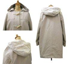 画像2: 1990's Denim & Co. Cotton Duffle Coat BEIGE size S - M (表記 M) (2)