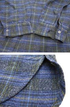 画像4: 1960's~ Europe L/S Pullover Long Shirts BLUE size M - L (4)