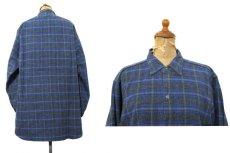 画像2: 1960's~ Europe L/S Pullover Long Shirts BLUE size M - L (2)