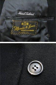 """画像3: 1960's """"Morris & Sons"""" Double Breasted Cashmere Coat BLACK size M - L (表記 不明) (3)"""